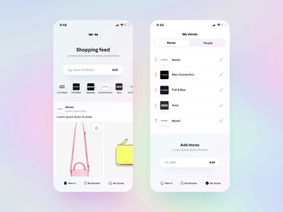 """The """"New In"""" App Concept ui concept ios ecommerce shopping app new"""