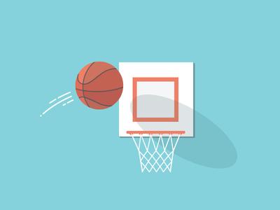 """Plan Your Rebound"" header image basket ball goal hoop flat design"
