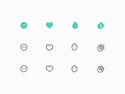 Icons / emojis  icons emojis fist fist-bump snowman love wow
