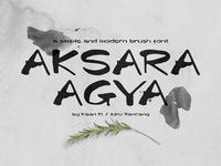 Aksara Agya - Brush Font