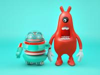 Robots and Big-billed Beasts