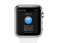 eDreams Apple Watch App - My Trips