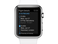 eDreams Apple Watch App - Flight details