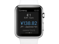 eDreams Apple Watch App - Currency