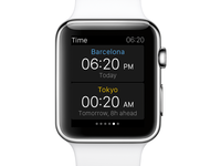 eDreams Apple Watch App - Time zones