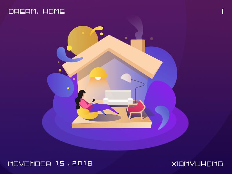 Dream home illustrations ui