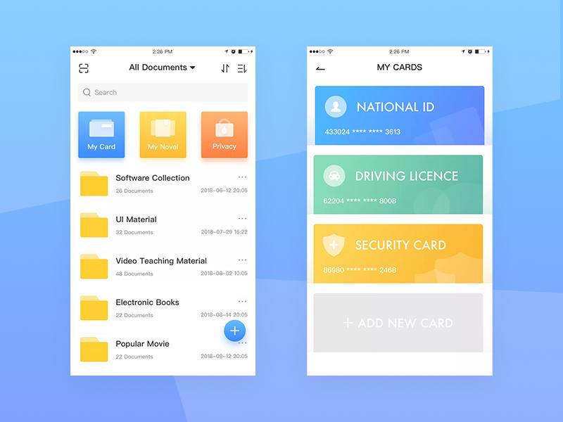 Online Cloud app design ui