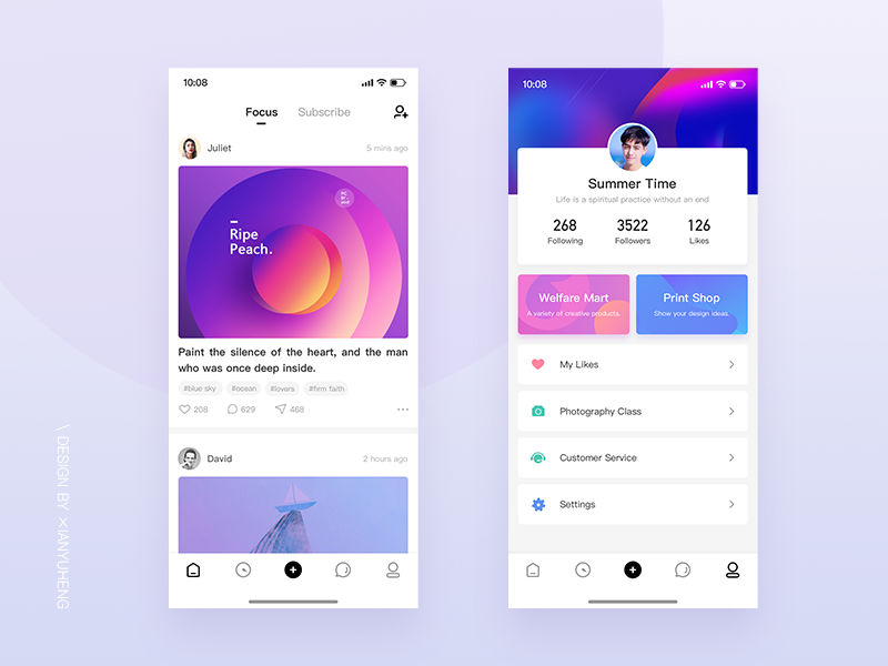 Image social interface interface app design ui