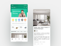 Home Page Design for Home Life App