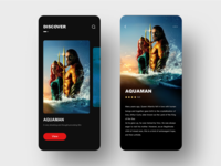 Movie homepage design