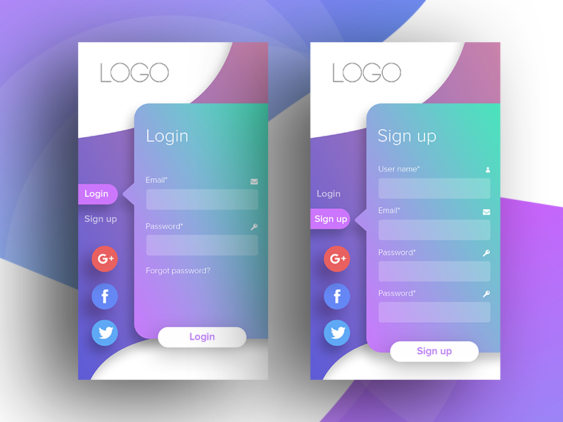 Mobile UI Design by Ether | Dribbble | Dribbble