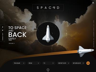 SPACEDchallenge website web ui twitter lifestyle page landing gradient design conceptual color challenge