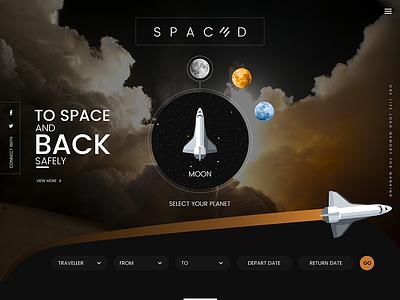 SPACEDchallenge website web ui twitter page lifestyle landing gradient design conceptual color challenge