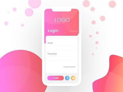 Mobile UI Design ui signup professional login gradient design creative color