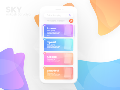 Coupons - Mobile ui cool ui signup professional login gradient design creative color