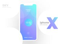 iPhone x- Unlock wallpaper