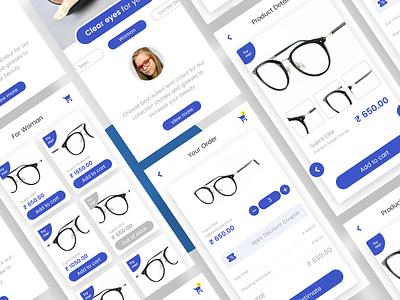 Glasses-Lens App UI ui signup professional login gradient design creative color