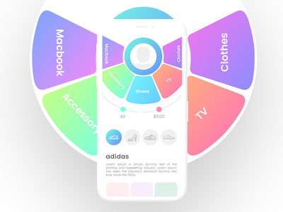 Mobile UI Design iphon x cool ui signup professional login gradient design creative color
