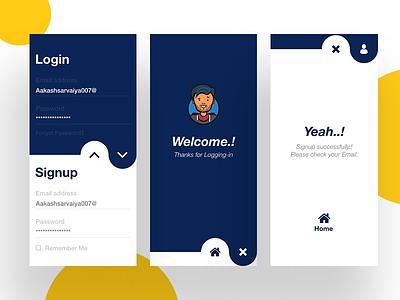 Concept Design of Login-Signup concept new ui signup professional login gradient design creative color