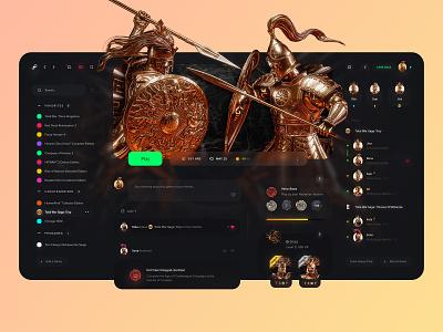 Steam Redesign 🎮 website web web  design client epic games troy total war totalwar panel gamer stream platform dark theme ux ui dashboard game dark redesign figma