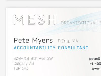 MESH business card