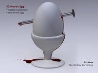 3d Bloody Egg