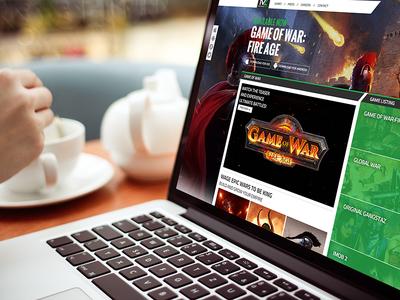 Machine Zone Website Homepage web design desktop web homepage game