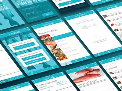 Fish House Ordering App Mobile Screens new orleans login cart order fish native mobile app ordering food