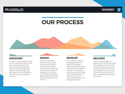 Radolo Website Process Infographic