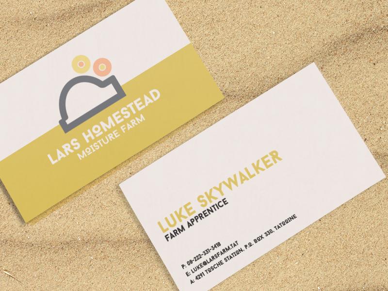 Luke Skywalker Brand Identity & Business Card by Jay Casteel - Dribbble
