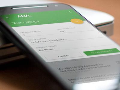 ADA Mobile Member App Design user experience ux ui interface mobile application google material design material design app