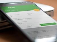 ADA Mobile Member App Design