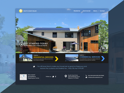 South Coast Solar Website Design