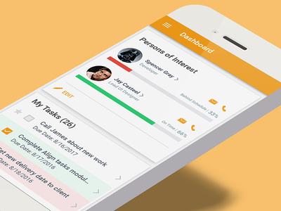 Align Mobile App Dashboard grid list tasks cards edit profile contacts charts dashboard app mobile