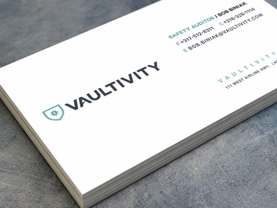 vaultivity branding business card design by jay casteel dribbble