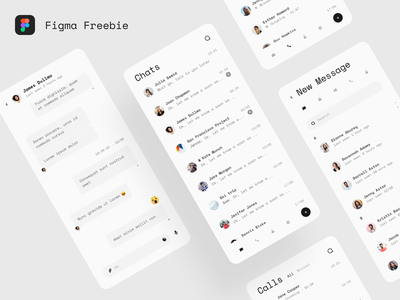 Freebie - Telegram Mobile App Redesign freebie ux uiux ui simple search product design mobile minimal message light free freebies inbox figma contacts clean chat call app