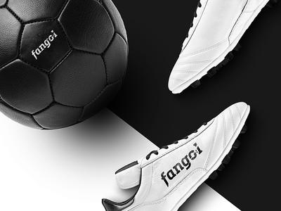Fangol branding leather boots graphics design graphic identity logotype branding ball logo football soccer