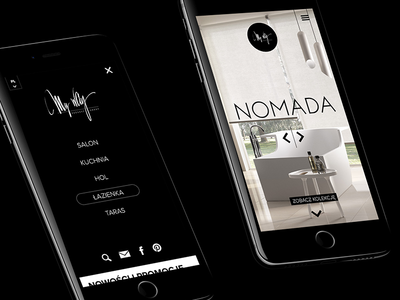 MyWay mobile ui ux web website webdesign design mobile hamburger menu navigation bathroom