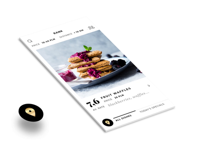 Chef Mate - Check In product design minimal luxury gold motion interactive interaction blackandwhite dishes food animation android ios ui ux app mobile
