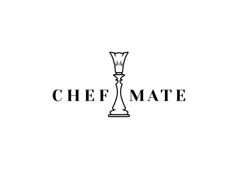 Chef Mate - logo & name type id identification elegant minimal chess chef typography app mobile branding mark logotype logo