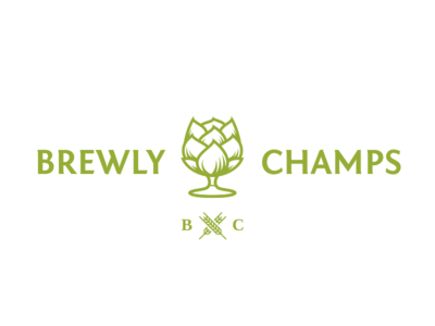Brewly Champs - logo & name naming name craft beer brew hop identification id identity stationery type mark typography vector branding logotype logo