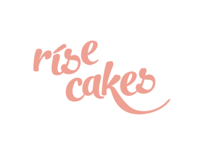 Rise Cakes - logo simple natural healthy light cakes rice id typography vector identification logotype logo branding