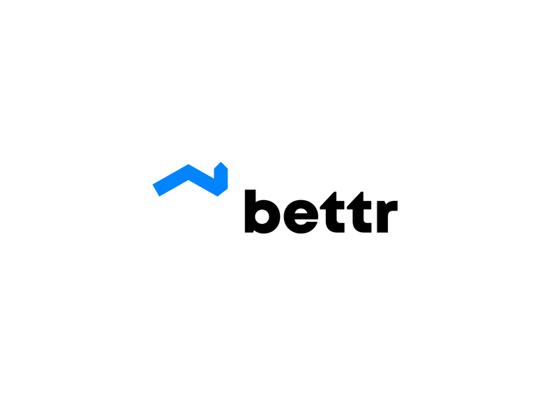 bettr - loans for house flippers modern symbol logo design logomark geometric finance mark minimal idenity clean house chart branding brand logo