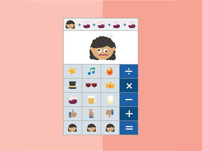 Daily UI #004 - Calculator emoji calculator emoticons emoji flat design graphic design interface design dailyui calculator