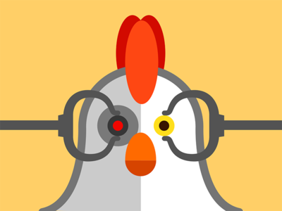 Robot Chicken flat design sketch illustrator illustration cartoon robot chicken robots