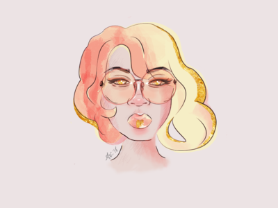 Gold Series | Rose Gold womens day watercolor portraiture portrait photoshop intl womens day international womens day illustrator illustration
