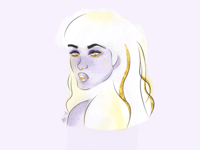 Gold Series | White Gold white gold gold womens day watercolor portraiture portrait photoshop intl womens day international womens day illustrator illustration