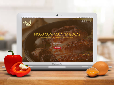 Daily UI #003 - Landing Page plezi gourmet plezi real client food dailyui user interface ui challenge landing page daily ui