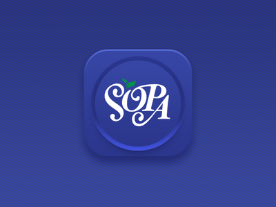 Daily UI #005 - App Icon diet psychology sopa app icon ui daily ui