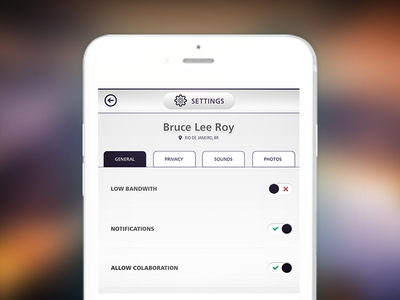Daily UI #007- Settings settings user interface ui daily ui app